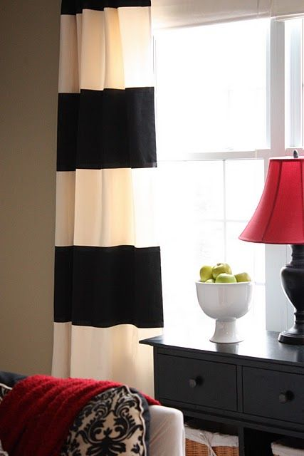 25 best ideas about black white curtains on pinterest black curtains bedroom stripe curtains. Black Bedroom Furniture Sets. Home Design Ideas