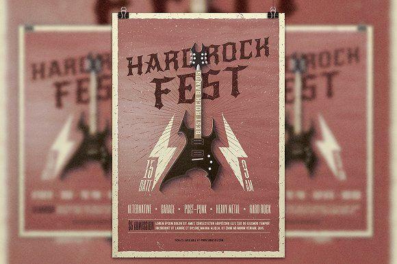 Rock Festival, Concert, Party Flyer Template