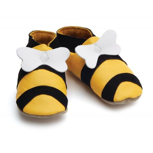 Honey Bumble Bee Leather Shoes - Gorgeous & Made in UK!! >> www.madecloser.co.uk/clothes-accessories/footwear/hunni-bee-yellow-shoes