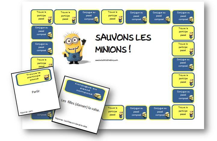 Ik vond een mooi vormgegeven spel (in stijl van de minions) om de passé composé te behandelen bij de lessen Frans. Het is de bedoeling dat de kinderen ofwel het participe passé vormen, ofwel de zin…