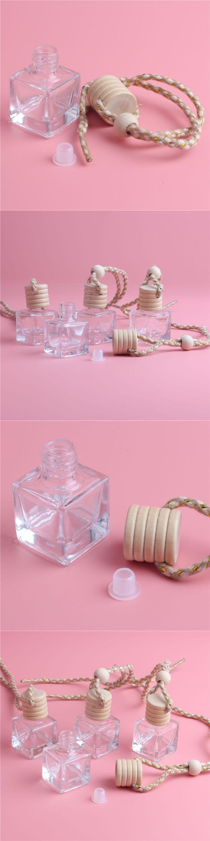 New Fashion 1PCS/LOT 6ML Mini Diamond Hanging Car Perfume Bottles Steam Car Accessories Bottle Empty Bottle