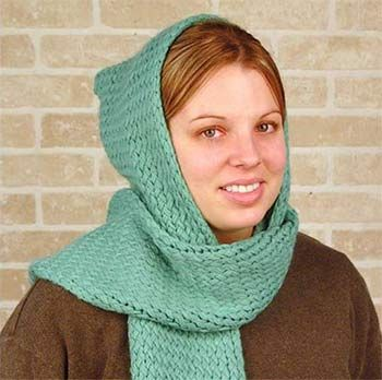 Scarf with Hat made using the Knifty Knitter Loom