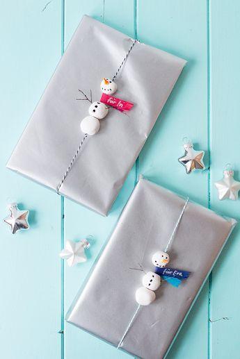 Schneemänner - Geschenkverpackung