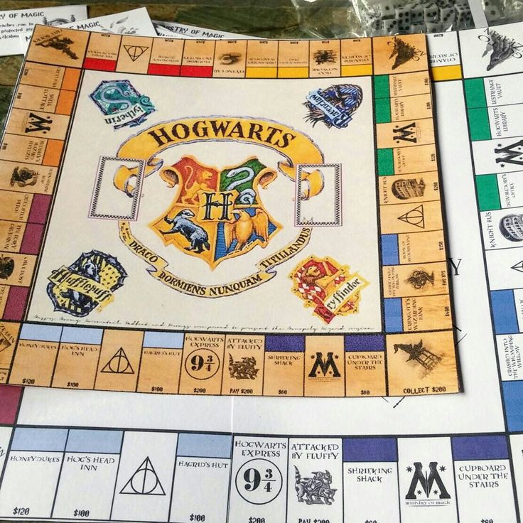 "BEST SELLER HARRY POTTER, MONOPOLY SET COMES WITH A CHOICE OF 4 BOARDS Sizes, Property Cards, Ministry of Magic & Deathly Hallows Cards, different coloured Money, Charms, Character players, House Sheild players, Hogwarts Castles & Hagrid""s Huts,Dice Rules"