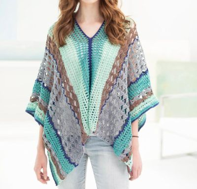Clement Canyon Poncho Crochet Kit