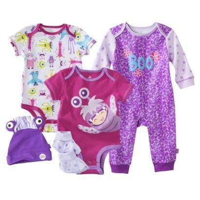 Disney Newborn Girls' Monsters Inc. Pink/Purple Collection
