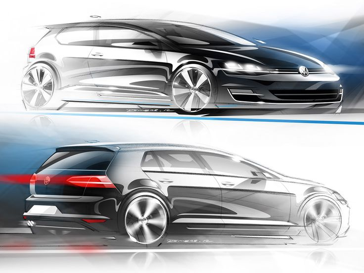 Volkswagen Golf VII Design Sketches