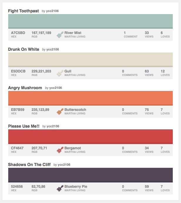 Here Are Our Bedroom Colors In Martha Stewart Paint And In HEX And RGB.  River