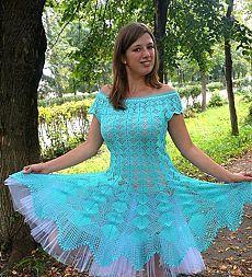 Голубое платье Кайли Миноуг / Вязание крючком / Вязание крючком. Ваши работы