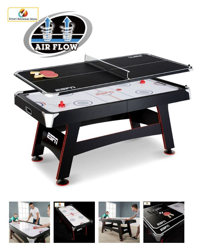 72 Air Hockey Table Indoor Gametable Sports Activity Ping Pong Tennis Top Set Espn Game Room Family Air Hockey Table Tennis Tops