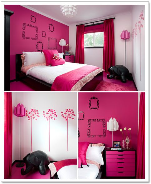 Love the pink, love the lamps