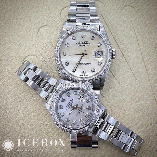 His & Hers Beautiful ♛ Rolex 36mm DateJust & 26mm Rolex ...