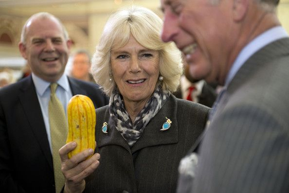 Camilla, Duchess of Cornwall and Prince Charles, Prince of Wales during The Edible Garden Show at Alexandra Palace on March 28, 2014 in London, England.