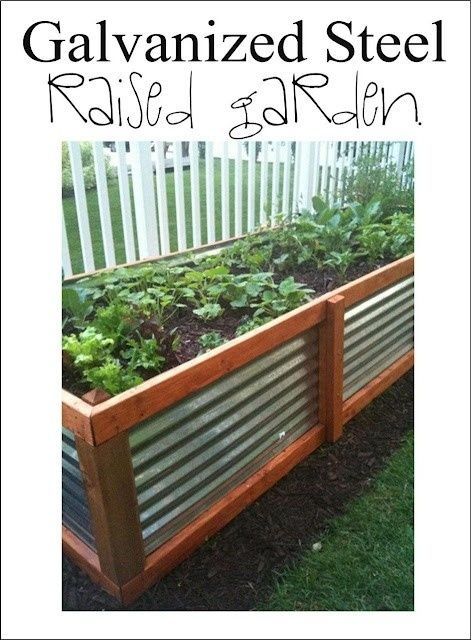 galvanized steel raised garden bed