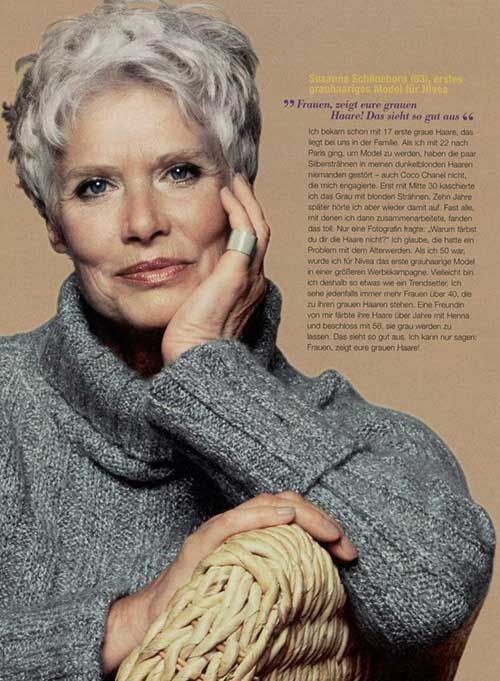60歳以上の女性のためのショートピクシーヘアスタイル
