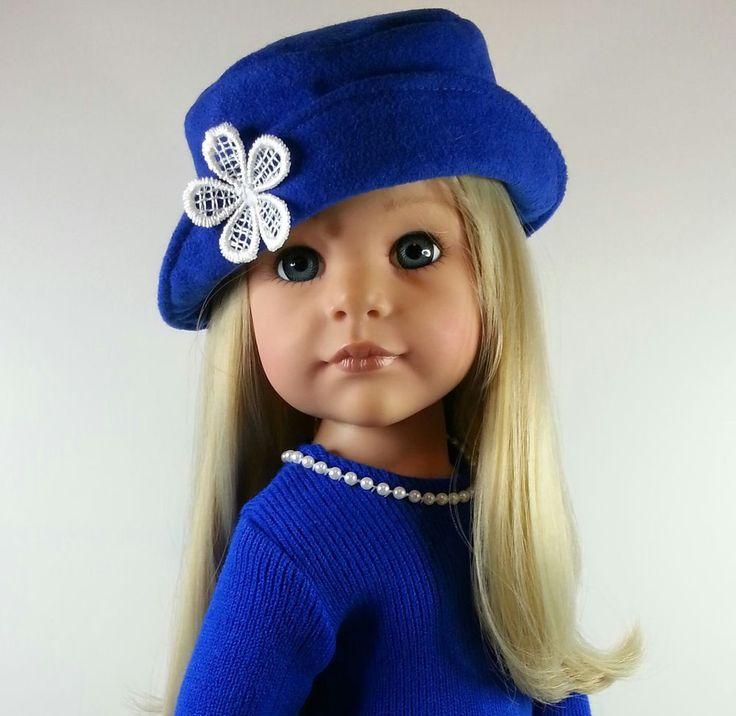SalStuff, Suedette Hat & Stretch Knit Dress - Hannah Gotz Designafriend 18  Doll. Find Sally Channon on Facebook UK and also Salstuff on Ebay.