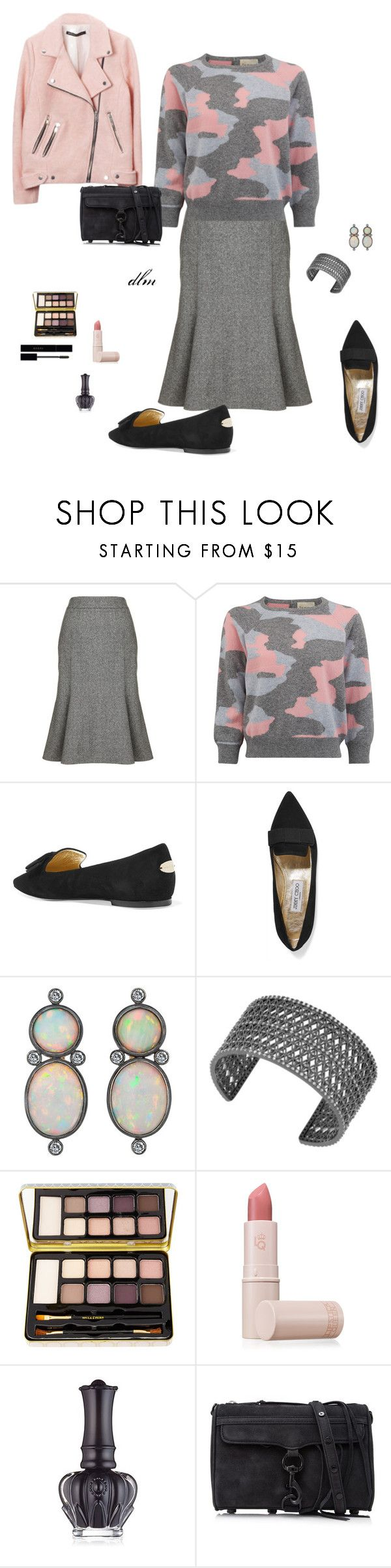 """Black"" by middletondonna ❤ liked on Polyvore featuring Monsoon, Jumper 1234, Jimmy Choo, Lucky Brand, Bella Il Fiore, Lipstick Queen, Anna Sui, Rebecca Minkoff and Gucci"