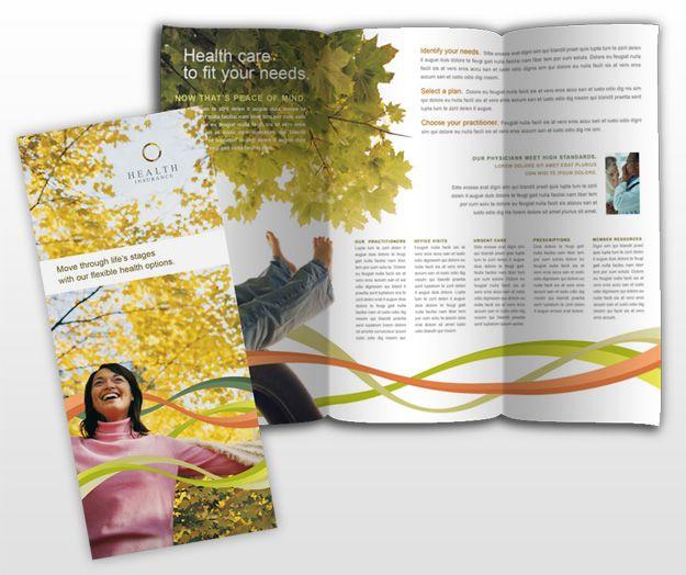 Health Insurance Brochure Samples | Design Type: Brochure Page Size: 8.5 x 11 Fold Type: Tri-Fold