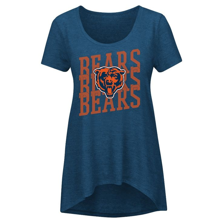 Chicago Bears Women's Game Time Glitz T-Shirt - Team Color Xxl, Multicolored