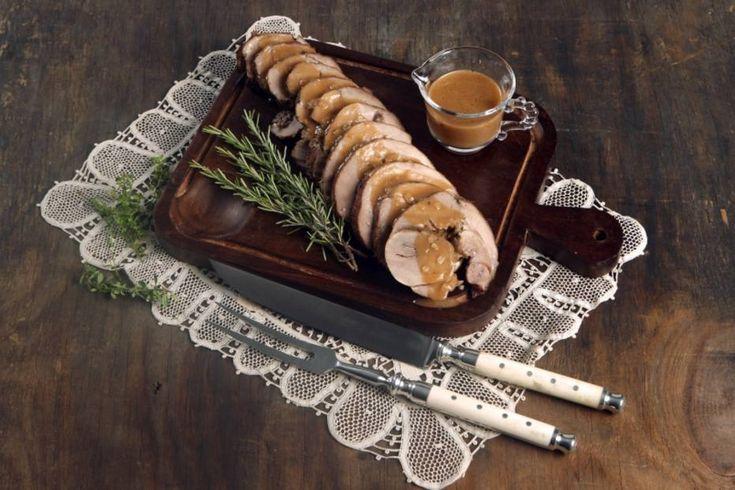 Roll de vitela com molho de tamarindo e vinho marsala
