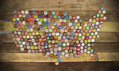 Bottlecap USA Wall Art | 20 Rad Things You Can Make With Bottle Caps