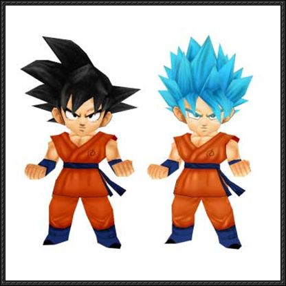 Dragon Ball Z - Chibi Goku SSJGU and 2015 Skin Free Papercrafts Download - http://www.papercraftsquare.com/dragon-ball-z-chibi-goku-ssjgu-2015-skin-free-papercrafts-download.html