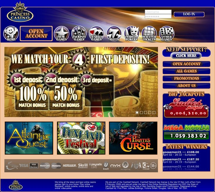 Welcome to www.princesscasino.com, the home of modern casino rooms and slots gaming information. When it comes to online casino rooms and slot games  has it all.