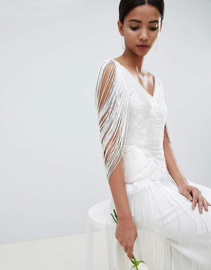 152f312dd8b85c Asos EDITION fringe maxi wedding dress #fringe#EDITION#Asos ...
