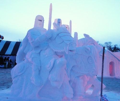 Ice sculptures of Festival du Voyageur, Winnipeg