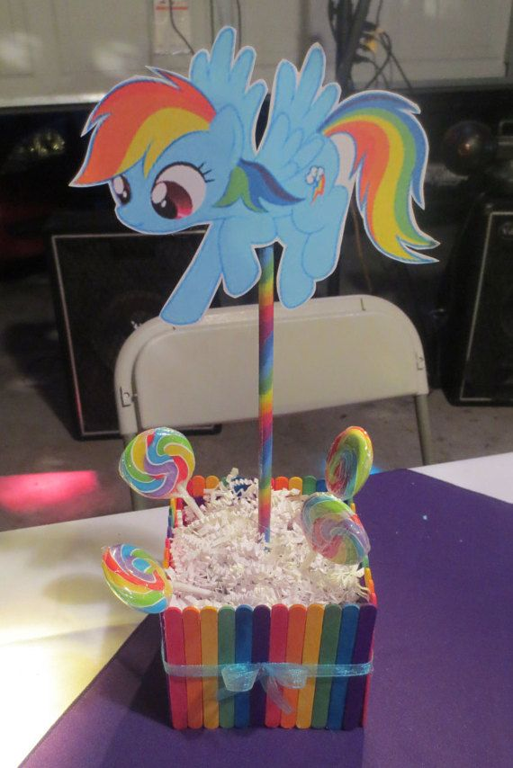 Hey, I found this really awesome Etsy listing at https://www.etsy.com/listing/236200084/rainbow-dash-centerpiece