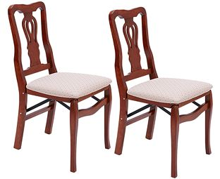 Chippendale Folding Dining Chair (Pair)