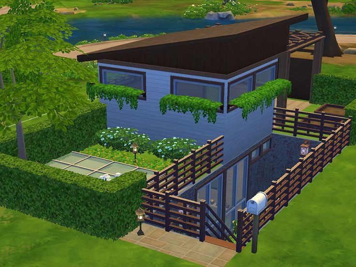 Fresh And Relaxing Little House Great For Your Sim Who Loves Meditation And Yoga Sims House Sims House Design Sims 4 House Design