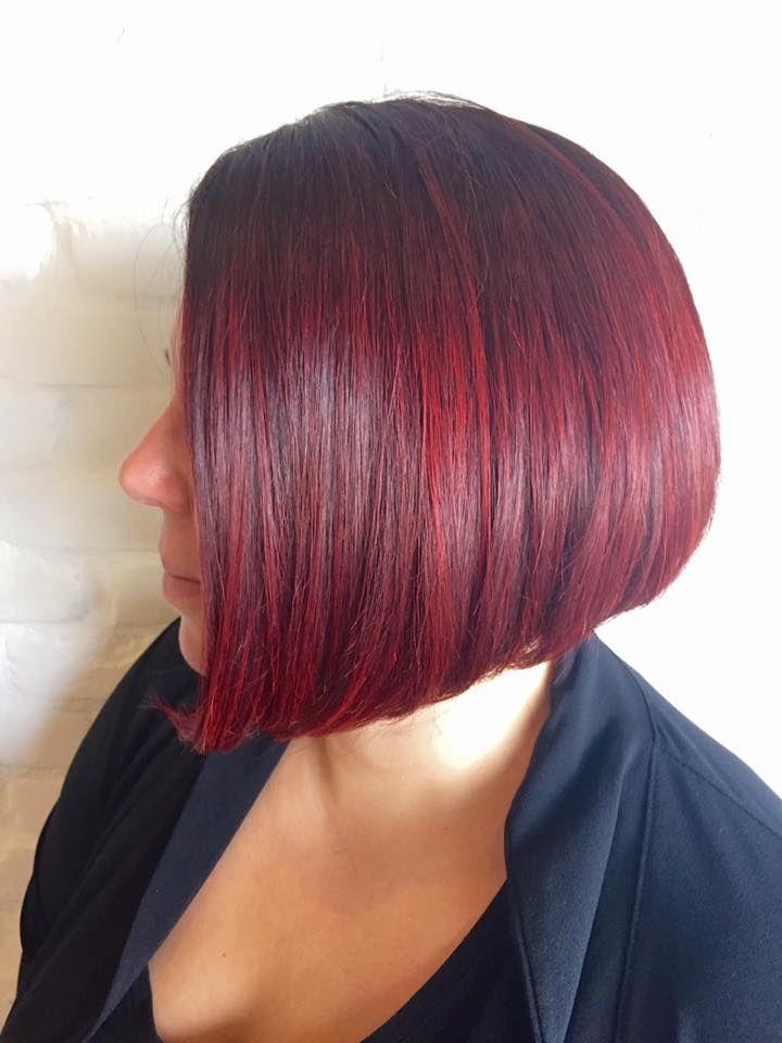 Red hair + bob haircut = Perfect look by Dania Cayouette