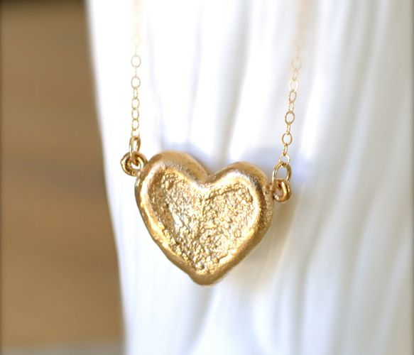{Textured Heart Pendant} by illuminancejewelry