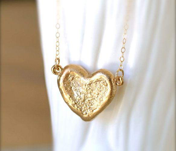 {Textured Heart Pendant} by illuminancejewelry