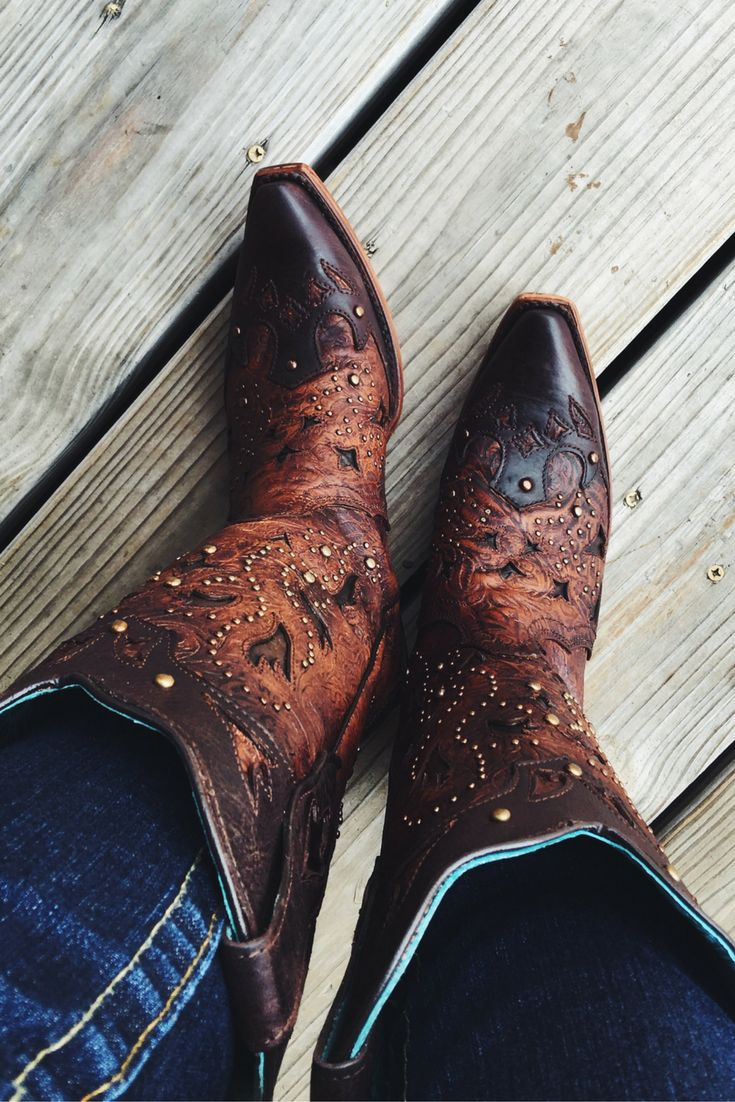 Every day is a good day in Corral boots <3