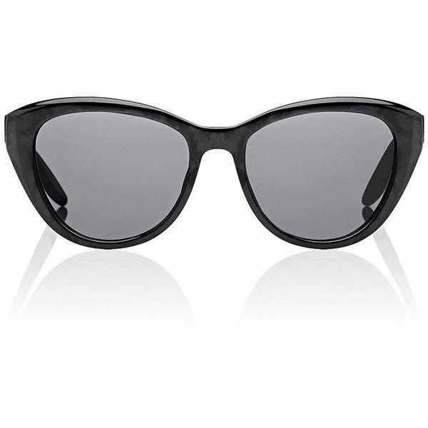 Barton Perreira Women's Graziana Sunglasses ($395) ❤ liked on Polyvore featuring accessories, eyewear, sunglasses, no color, barton perreira, etched glasses, transparent sunglasses, cateye sunglasses and barton perreira sunglasses