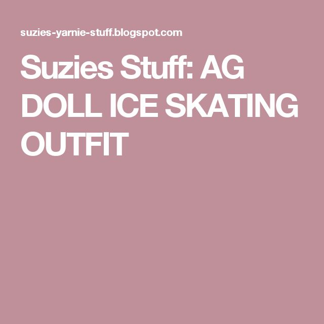 Suzies Stuff: AG DOLL ICE SKATING OUTFIT