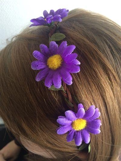 Fede Hårbånd med lilla blomst  Hårpynt til Damer til hverdag og fest