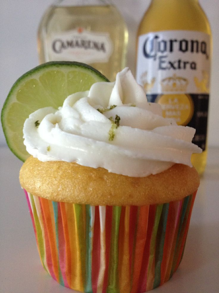 Corona Cupcakes with Tequila Lime Frosting