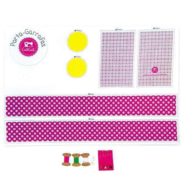 Kit de Costura Bolsa Porta Garrafa | Kit de Costura CutCut ®