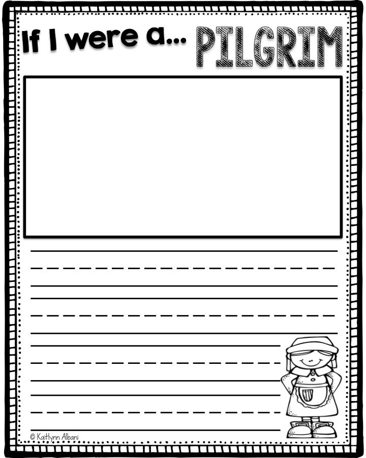 FREE November printables pages for first grade