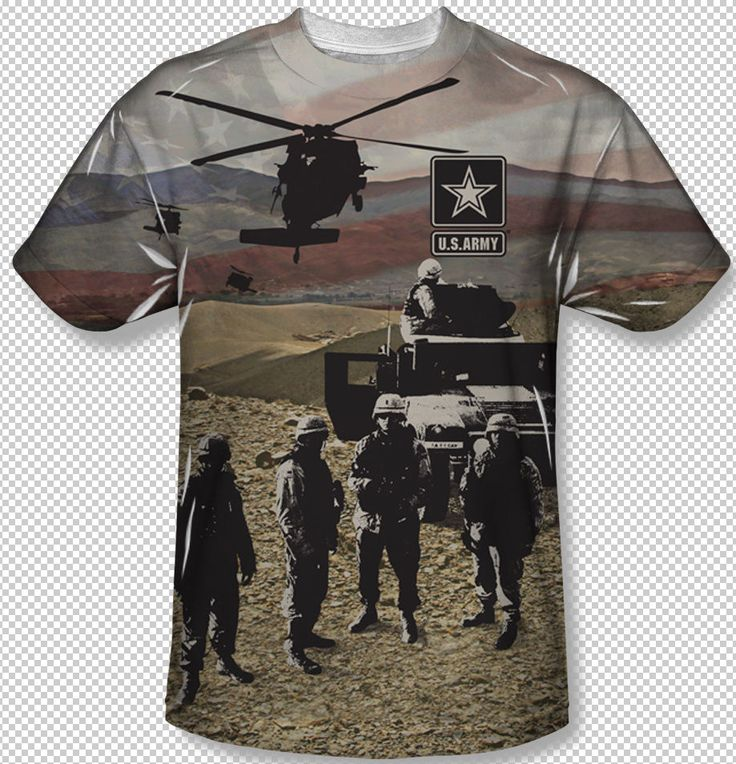 New United States Army Values Logo All Over Front Subliation Youth T Shirt Top Official Licensed Sublimation Print