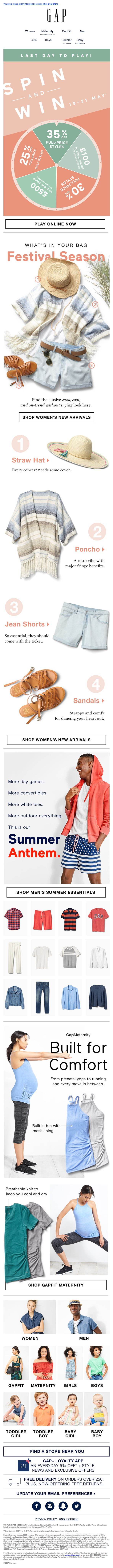 GAP sent this email with the subject line: Final announcement! We reserved you THIS special deal - Read about this email and find more gif emails at ReallyGoodEmails.com #fashion #gif
