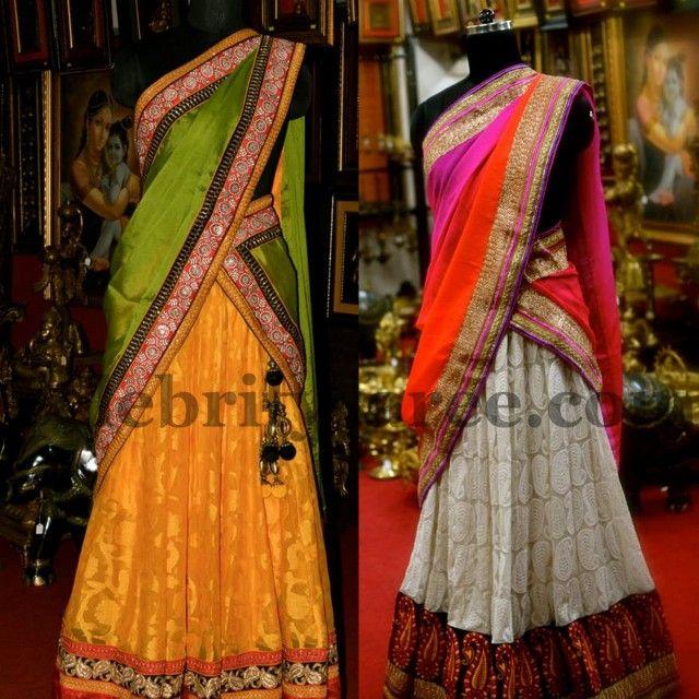 Aashiaanya Latest Half Sarees   Saree Blouse Patterns
