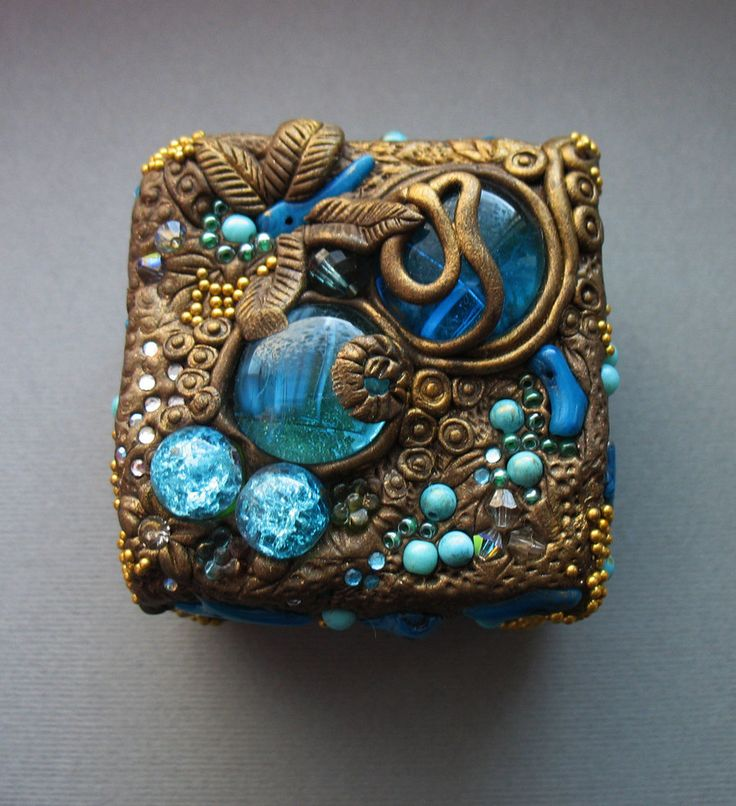 Polymer Clay jewelry boxes by AHHA.deviantart.com on @deviantART