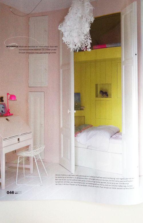 #Slaaphut lovely built-in sleeping nook for kids | Eigen Huis & Interieur