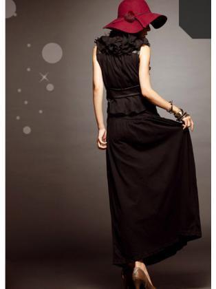 Casual Waisted Maxi Skirt