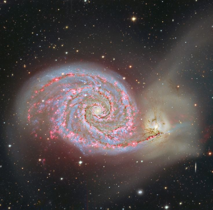 Spiral out. M51