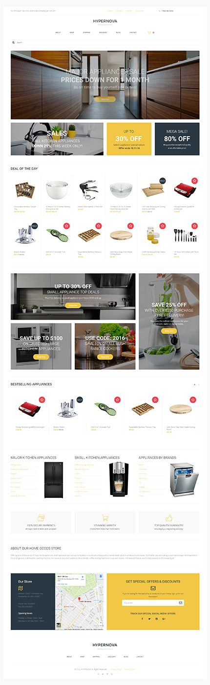 Kitchen Supplies Multipurpose Online Store #WooCommerce #template. #themes #business #responsive #WooCommercethemes
